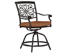 "Naples Rust Swivel 24"" Barstool"