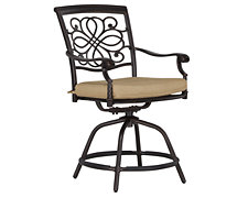 "Naples Khaki Swivel 24"" Barstool"