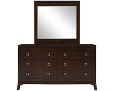 Alex Dark Tone Dresser & Mirror