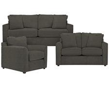 Express3 Dk Gray Microfiber Living Room