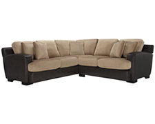 Bally2 Dk Taupe Microfiber Small Two-Arm Sectional