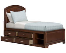 Kaya Mid Tone Panel Storage Bed