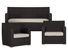 Grate2 White Outdoor Living Room Set