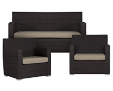 Grate2 Gray Outdoor Living Room Set