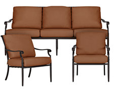 Naples Rust Outdoor Living Room Set