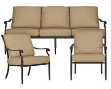 Naples Khaki Outdoor Living Room Set