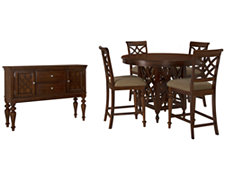 Oxford Mid Tone Round High Dining Room