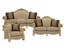 Regal Light Tone Leather Living Room