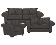 Jesi3 Dk Gray Microfiber Living Room