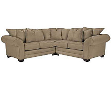 Jesi3 Dk Taupe Microfiber Small Two-Arm Sectional