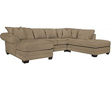 Jesi3 Dk Taupe Microfiber Small Right Bumper Sectional