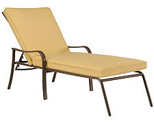 Palm Key Lt Gold Chaise