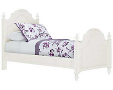 Olivia White Low Poster Bed