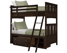 Liam Dark Tone Storage Bunk Bed