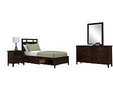 Liam Dark Tone Platform Storage Bedroom