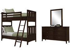 Liam Dark Tone Bunkbed Bedroom