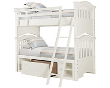 Adrian White Storage Bunk Bed
