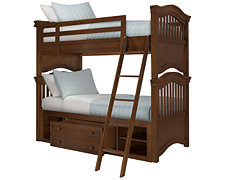 Adrian Mid Tone Storage Bunk Bed