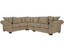 Jesi3 Dk Taupe Microfiber Large Two-Arm Sectional