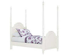 Olivia White High Poster Bed