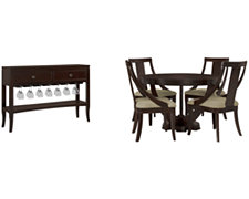 Temple Dark Tone Round Dining Room