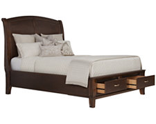Canyon Mid Tone Wood Platform Storage Bed