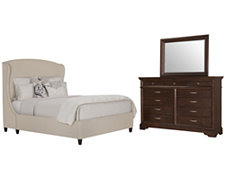 Canyon Lt Taupe Upholstered Platform Bedroom