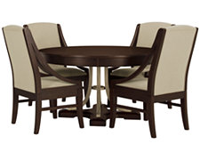 Canyon Mid Tone Round Table & 4 Sloped Chairs