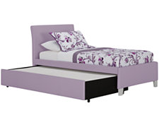 Fantasia Lt Purple Upholstered Platform Storage Bed