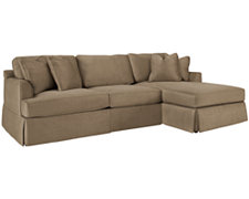 Ciarra Dk Taupe Microfiber Right Chaise Sectional