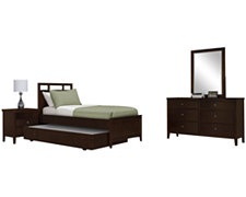 Liam Dark Tone Panel Trundle Bedroom