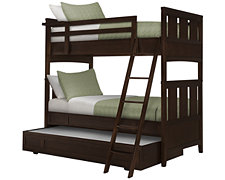 Liam Dark Tone Trundle Bunk Bed
