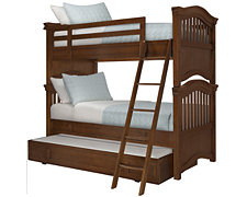 Adrian Mid Tone Trundle Bunk Bed