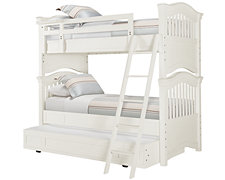 Adrian White Trundle Bunk Bed