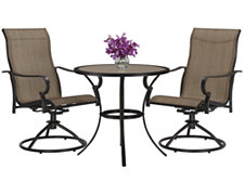 "Bella2 29"" Round Table & 2 Swivel Chairs"