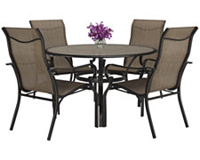 "Bella2 48"" Round Table & 4 Sling Chairs"
