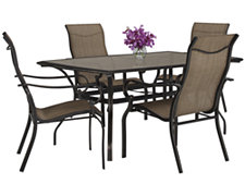 "Bella2 66"" Rectangular Table & 4 Sling Chairs"