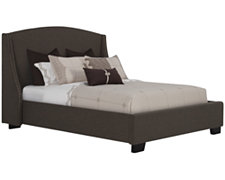 Novelo Dk Brown Fabric Platform Bed