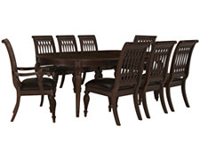 Belmont Dark Tone Oval Table & 4 Wood Chairs