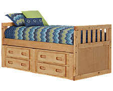 Cinnamon2 Mid Tone Panel Storage Bed