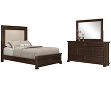 Chandler Dark Tone Upholstered Panel Bedroom