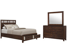 Andora Mid Tone Panel Storage Bedroom