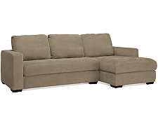 Porter Green Microfiber Small Right Chaise Sectional