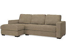 Porter Green Microfiber Small Left Chaise Sectional