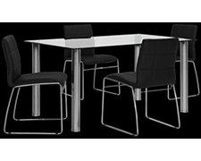 Napoli Black Rectangular Table & 4 Chairs