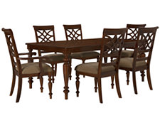 Oxford Mid Tone Rectangular Table & 4 Chairs