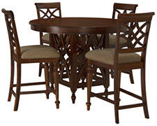Oxford Mid Tone Round High Table & 4 Barstools