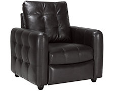 Darby Dk Brown Bonded Leather Recliner
