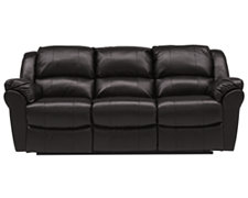 Sophia2 Dk Brown Bonded Leather Reclining Sofa