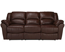 Sophia2 Md Brown Bonded Leather Reclining Sofa